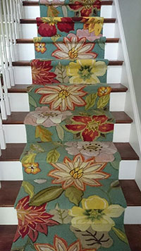Floral Stair Carpeting